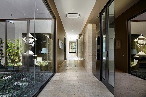 travertino noce pavimentazioni rivestimenti borrell street residence