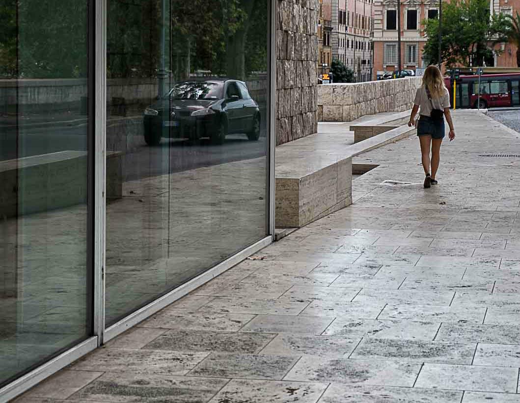 Außen Travertin Stein für die Verkleidung Museum in Roma