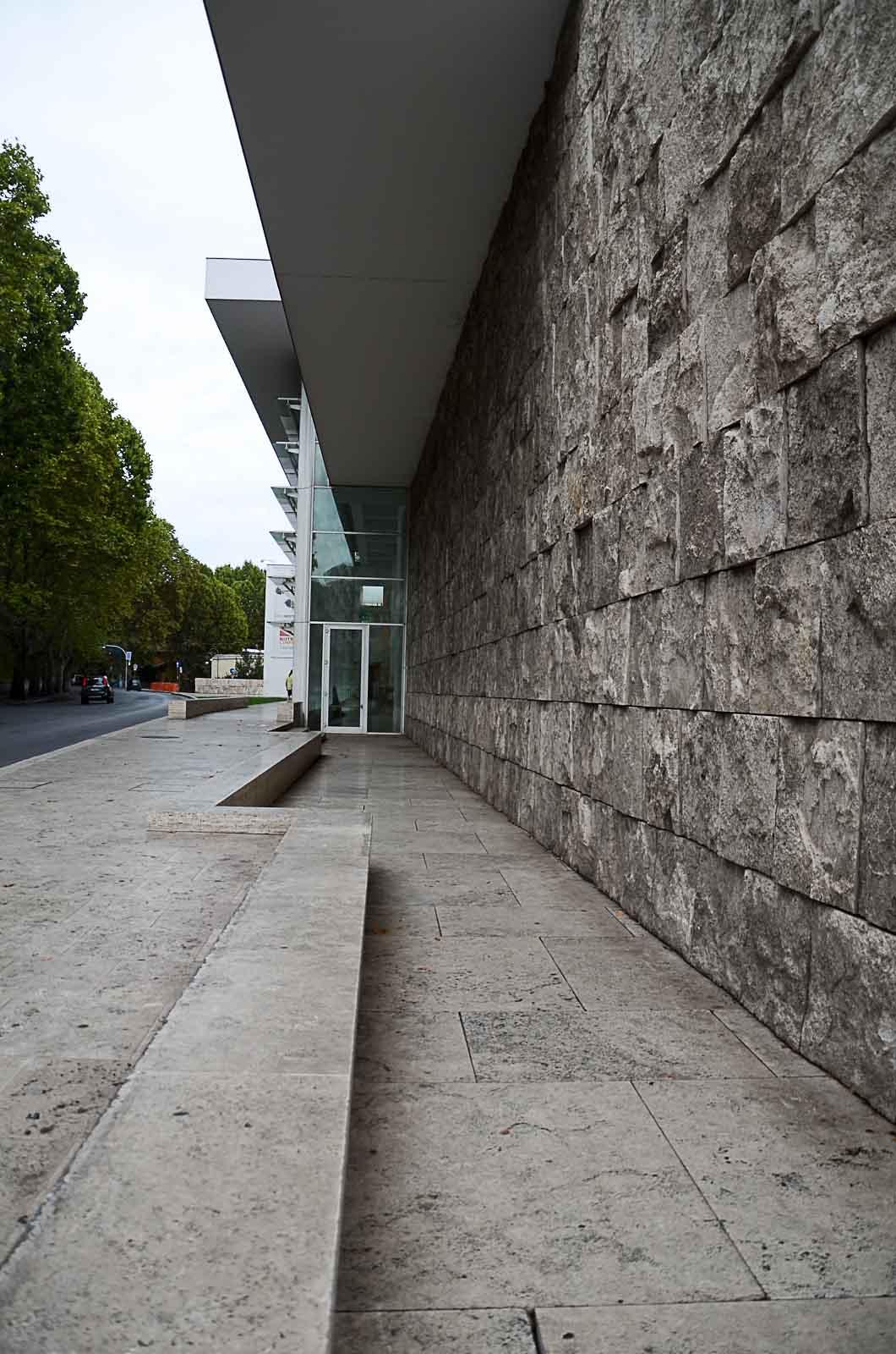 Italienisch Travertin Beschichtungen Architektur von Richard Meier ara Pacis Museum in Roma