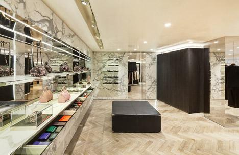 Givenchy-flagship-store-seul-interni-marmo