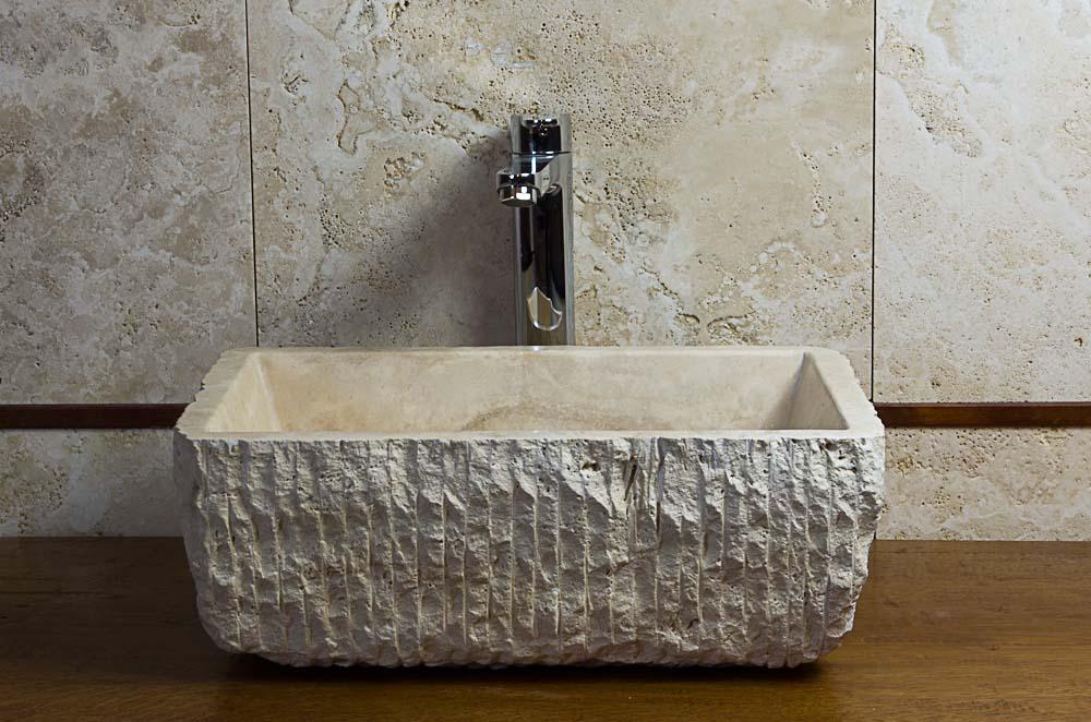 waschbecken bad, travertin waschbecken