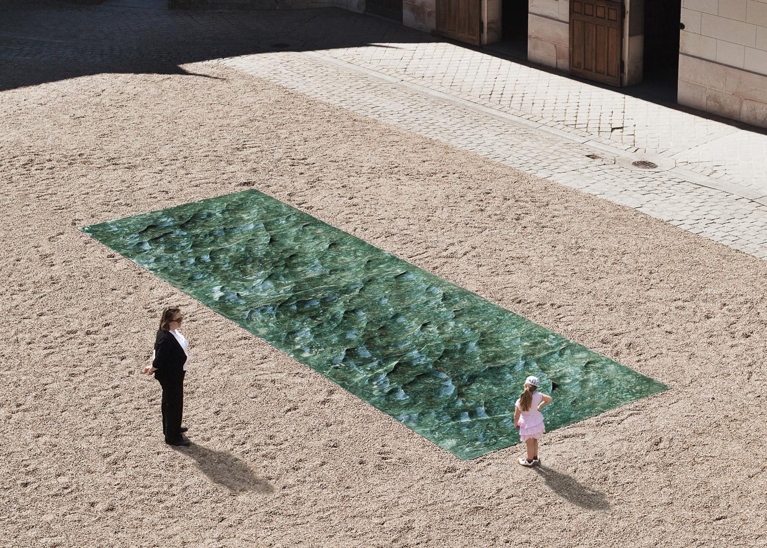 Das pool aus flüssigem marmor von mathieu lehanneur toskana naturstein