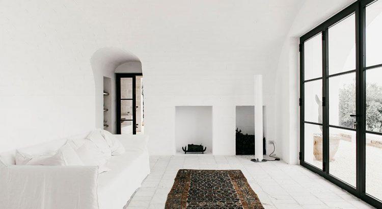 Lokale Materialien für ein modernes Bauernhaus in Ostuni puglia