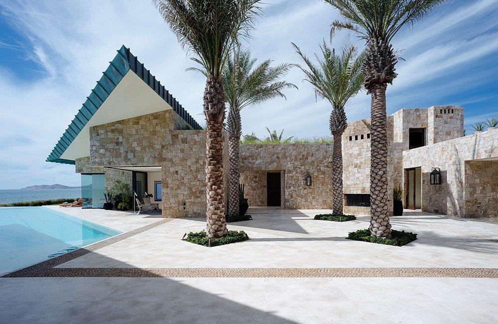 Ein Wohnhaus aus Stein in Los Cabos, Mexiko