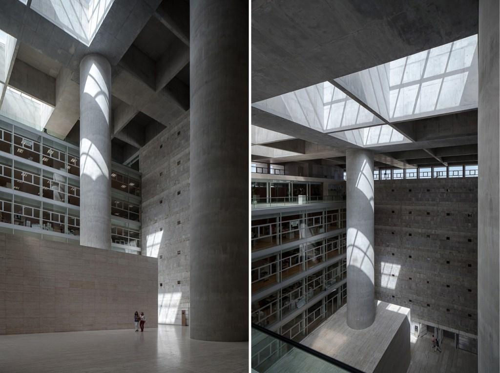 das Projekt des Architekten Alberto Campo Baeza im Jahr 2001 für Caja Granada Sparkassen.