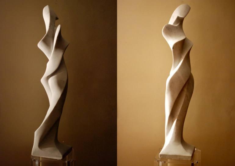 Skulptur in Marmor weibliche Figur des Designers Victor Gingembre