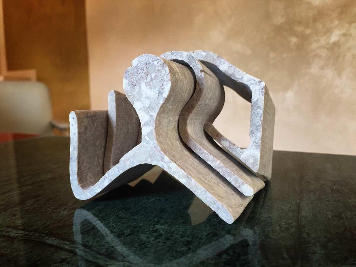 Design Marmorskulptur des jungen Victor Gingembre