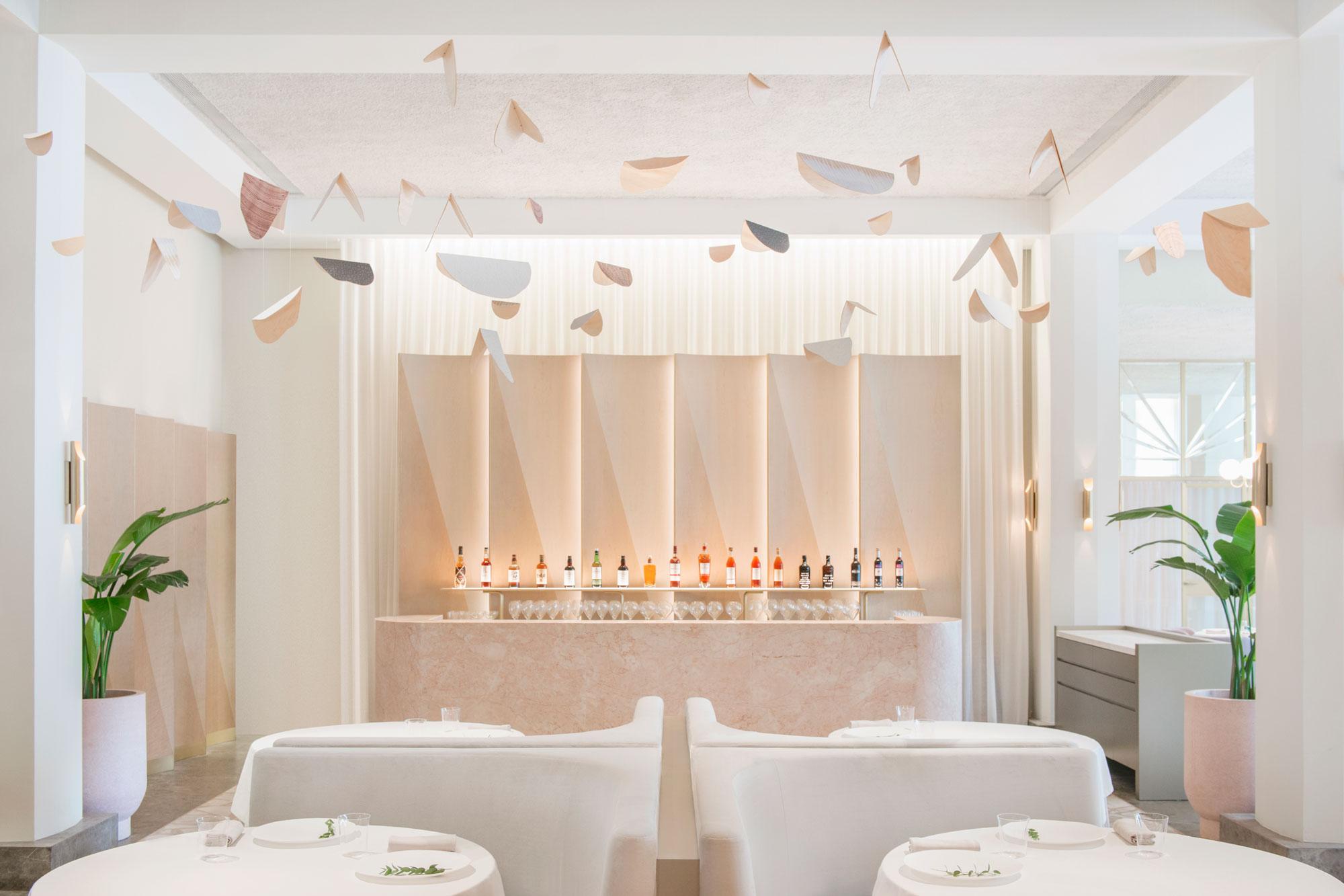 interior design Odette Restaurant in Singapur
