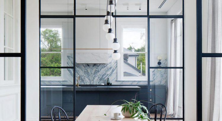 Küchenrenovierung mit Marmorverkleidung